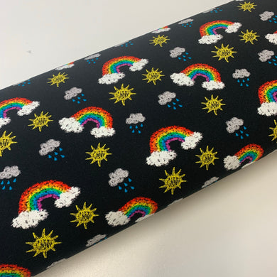 Exclusive Chalkboard Rainbows French Terry