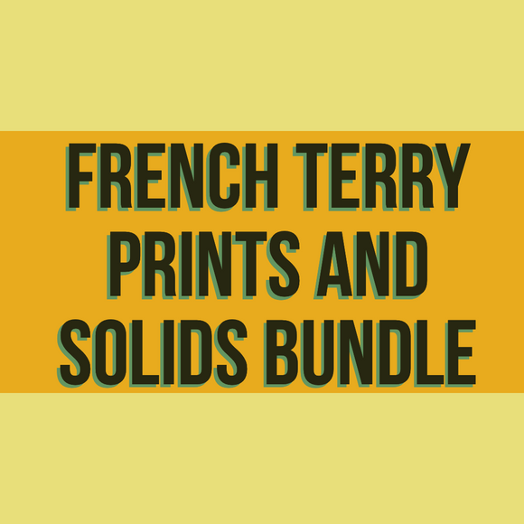 French Terry Prints and Solids Bundle