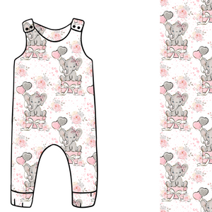 Elephant Balloon Pink cotton Jersey