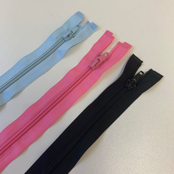 Open Ended Zips - Various Sizes and Colours