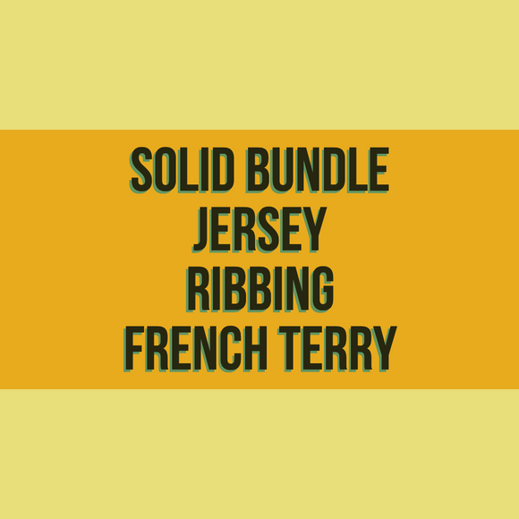 Solids Starter Bundle - Jersey / Ribbing / French Terry