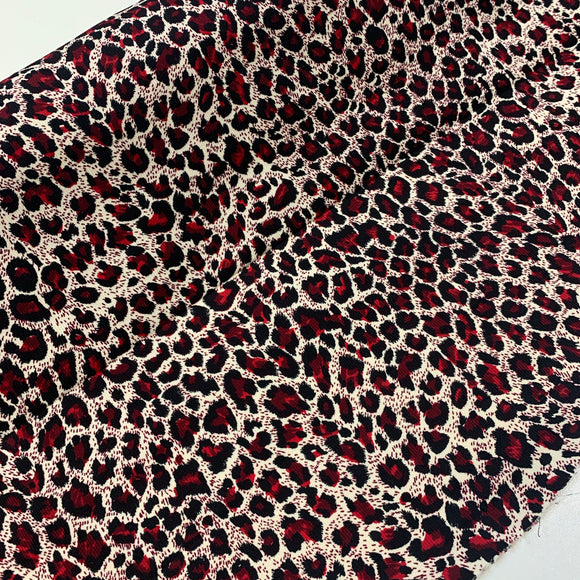 Red Leopard Corduroy