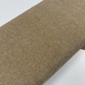 Taupe Yarn Dyed Cotton Linen Blend