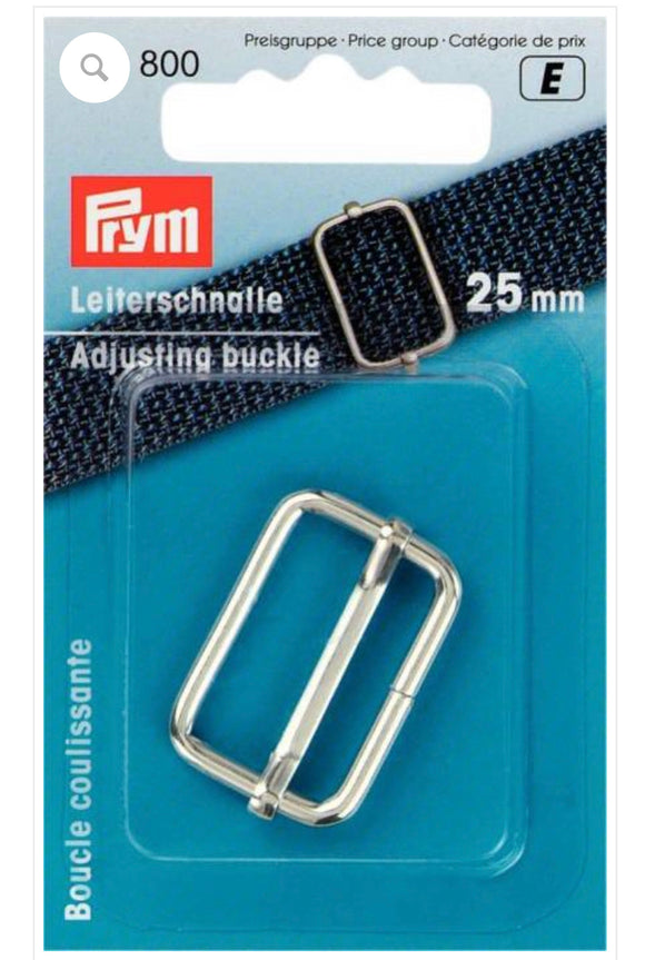 Adjustable Buckle 25mm Silver