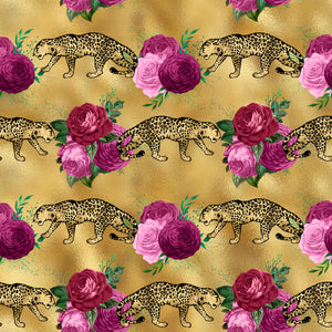 Gold Leopards double brushed Polyester