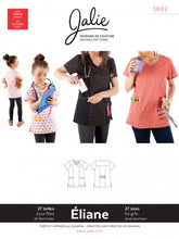 Load image into Gallery viewer, Eliane SCRUB job JALIE Woman's and Girls Sewing Pattern