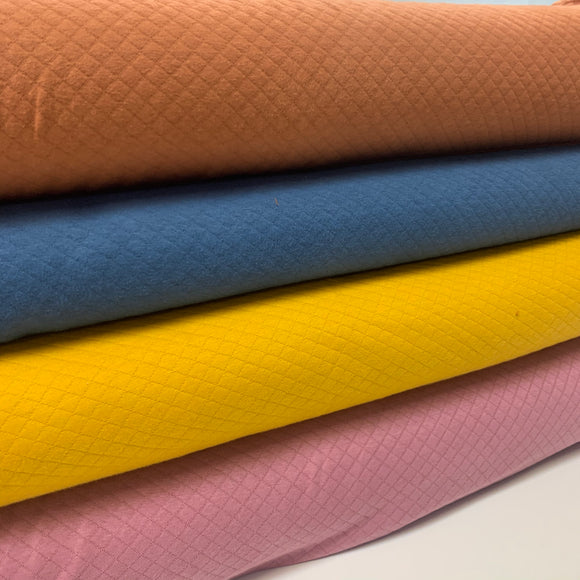 Quilted Jersey - Various Colours