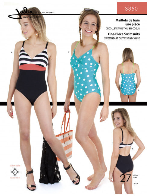 One Piece Swimsuit JALIE Woman's and Girls Sewing Pattern