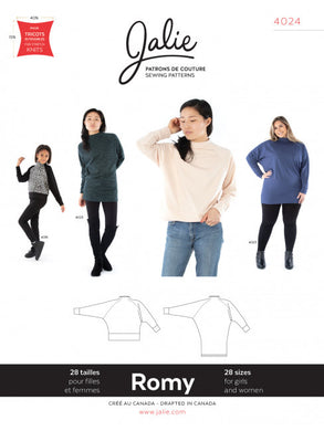 Romy Sweater and Tunic JALIE Woman's and Girls Sewing Pattern