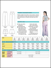 Load image into Gallery viewer, Tilly & The Buttons Jessa Trousers and Shorts Sewing Pattern