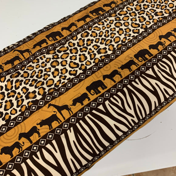 African leopard Safari Cotton Jersey Fabric