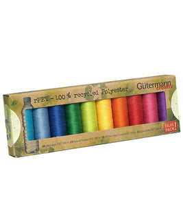 Gutermann Thread Set recycled polyester Bright Colours