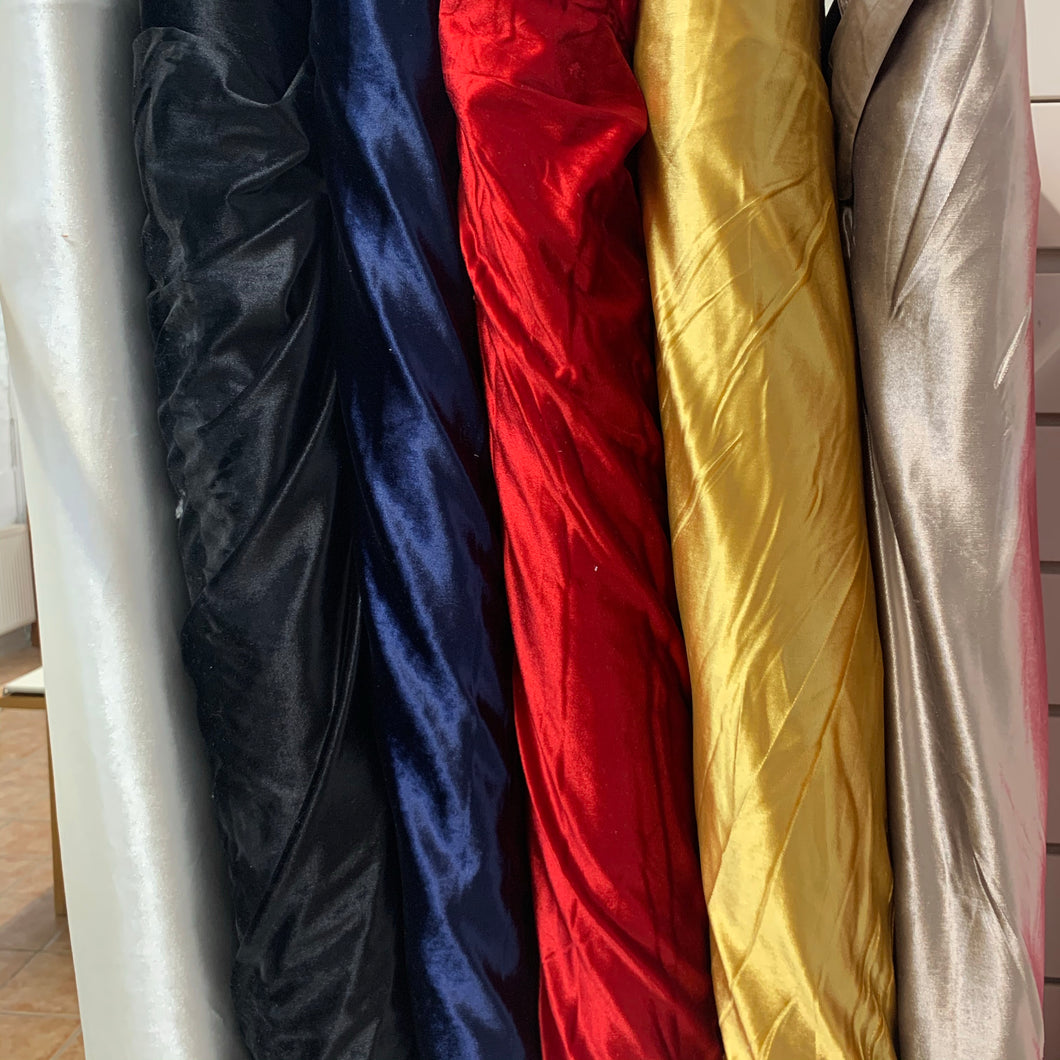Velour stretch Plain colours