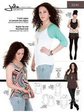 Load image into Gallery viewer, Raglan tee, racer back Tank and Tunic JALIE Woman's and Girls Sewing Pattern