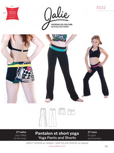 Yoga shorts and Pants JALIE Girls and Women Sewing Pattern