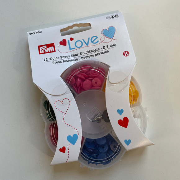 Prym Love press fasteners mini 9mm set