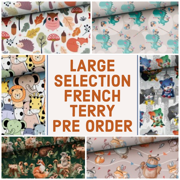 PRE ORDER LARGE SELECTION French Terry Fabric
