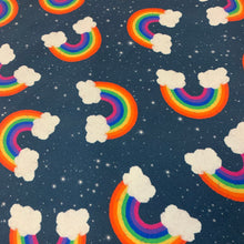 Load image into Gallery viewer, Galaxy Rainbows Jersey Fabric