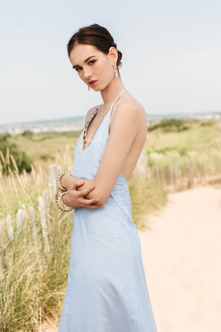 Cefalu Dress, Sky Blue