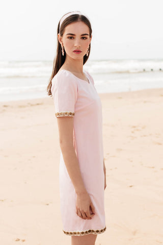 Ile de Re dress, Sugar Pink