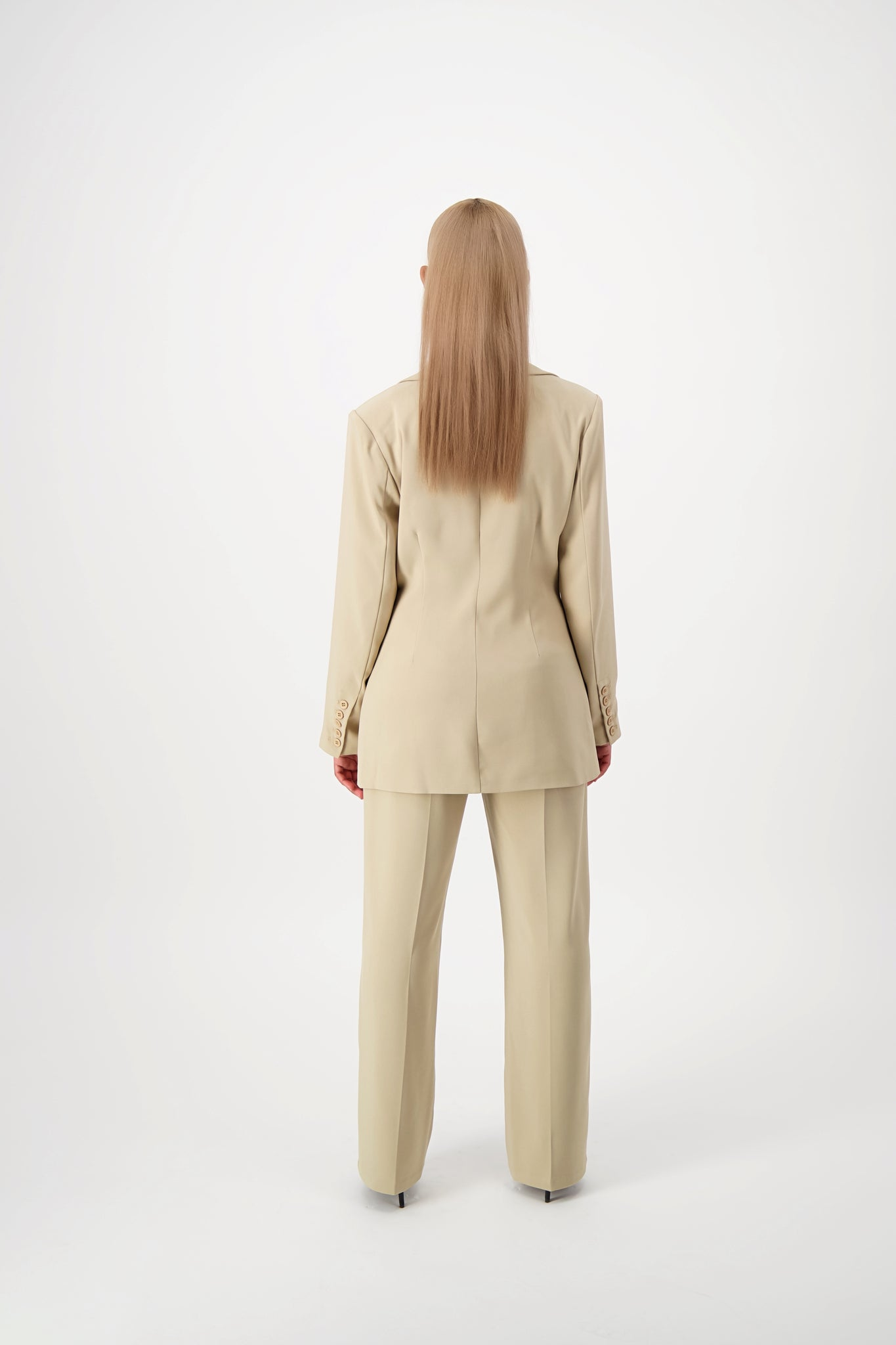 Load image into Gallery viewer, Desert Sand Double-Lapel Blazer