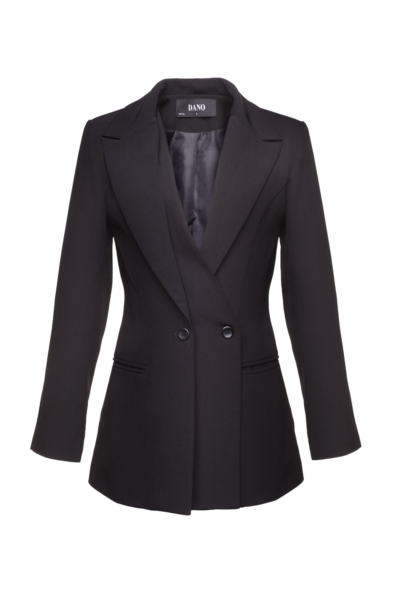 Load image into Gallery viewer, Charcoal Black Double-Lapel Blazer