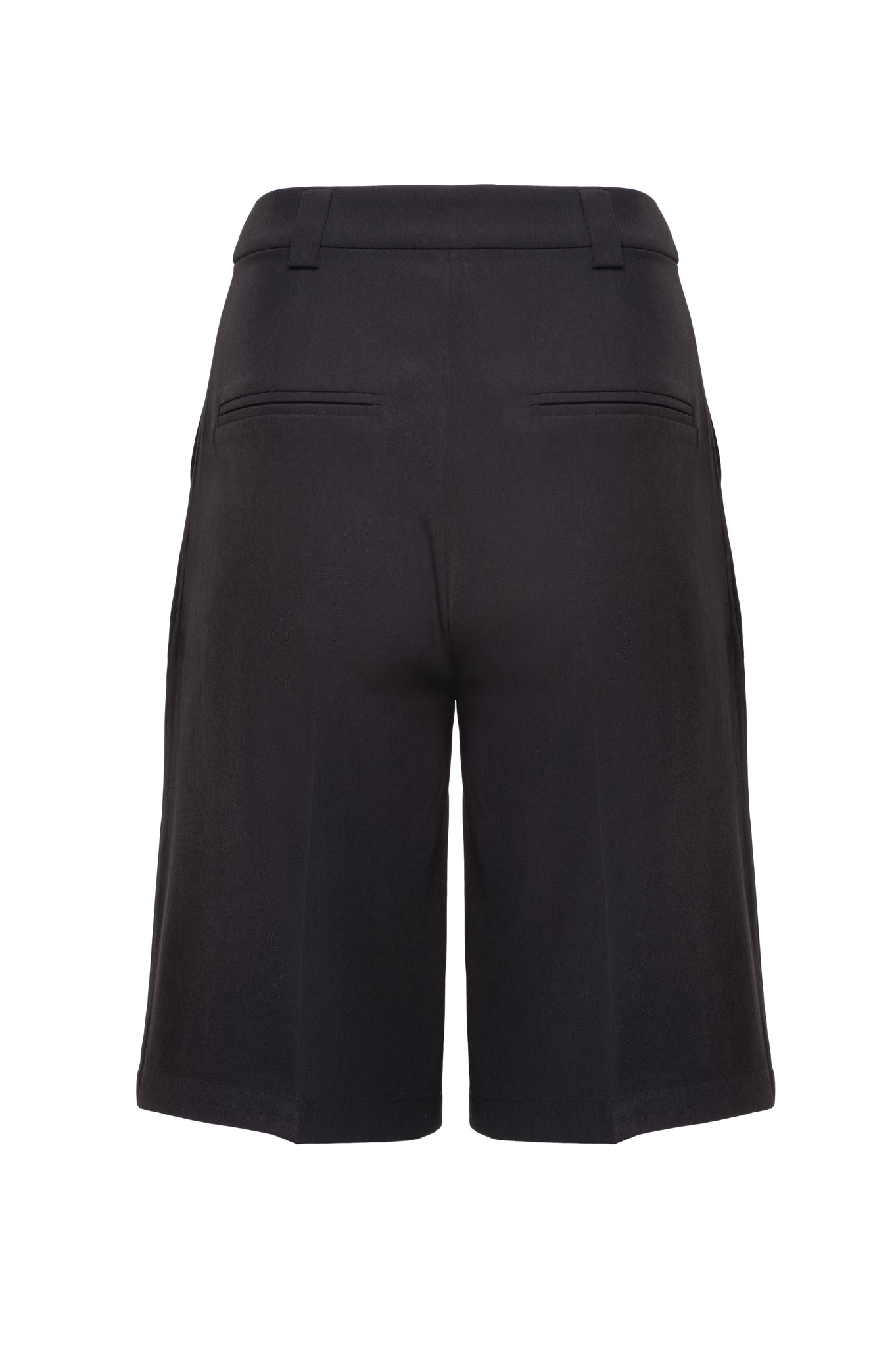 Load image into Gallery viewer, Charcoal Black Tailored Bermuda Shorts