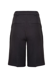 Charcoal Black Tailored Bermuda Shorts