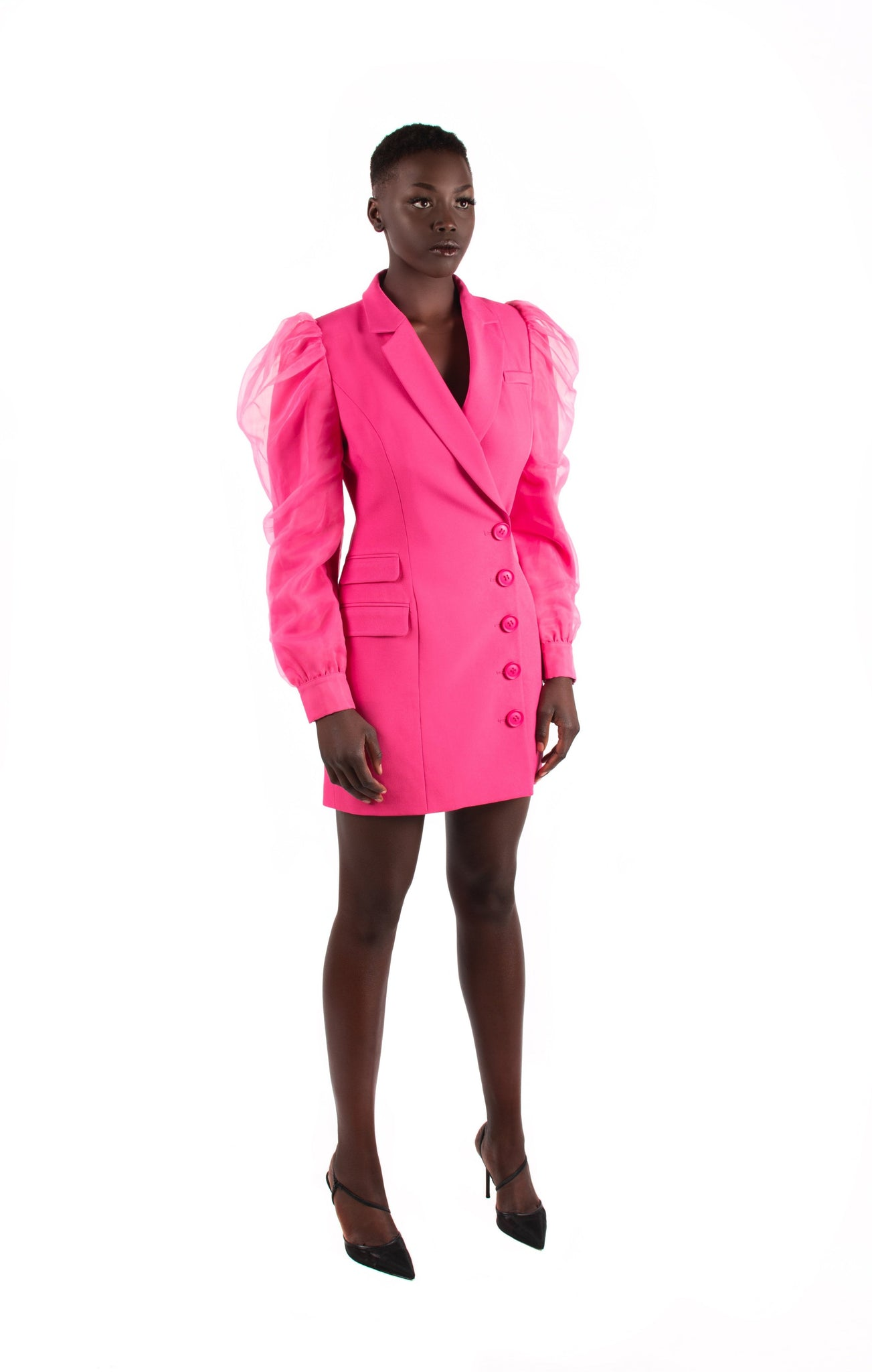 Load image into Gallery viewer, Pink Mesh Hybrid Blazer