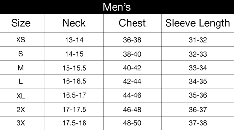 Shirt sizing the oatmeal for Mens shirt size guide