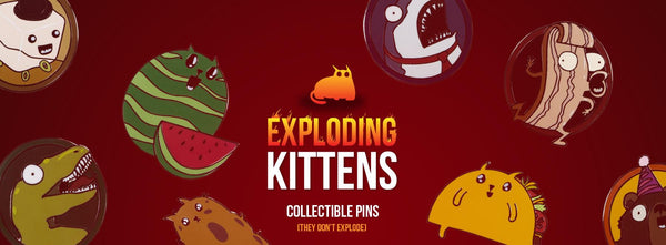 Exploding Kittens Collectible Pins