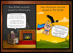 American VS British Accents - Print