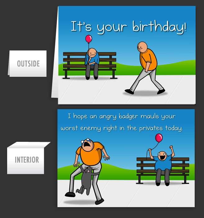 Birthday Badger Greeting Card 5 The Oatmeal