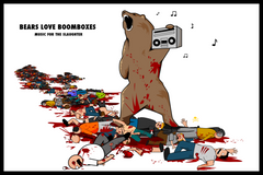 Bears Love Boomboxes - Print