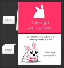 Bikini Rabbit - Greeting Card #4