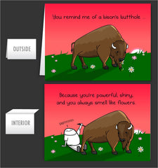 Bison's Bum - Greeting Card #7
