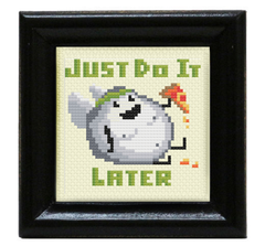 Blerch Cross Stitch - Just do it later