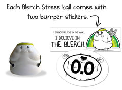 The Blerch: Super Squishy Stress Ball + Bumper Stickers