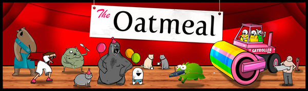 The Oatmeal Characters Bumper Sticker