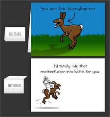 BunnyRaptor- Greeting Card #8