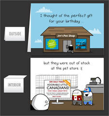 Canadian Pet - Greeting Card #9