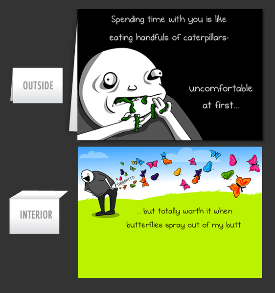 Eating Caterpillars - Greeting Card #18