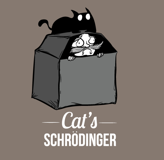 Schrodingers Cat Black And White