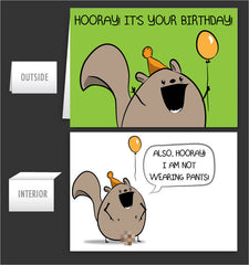 No Pants Chipmunk - Greeting Card #12