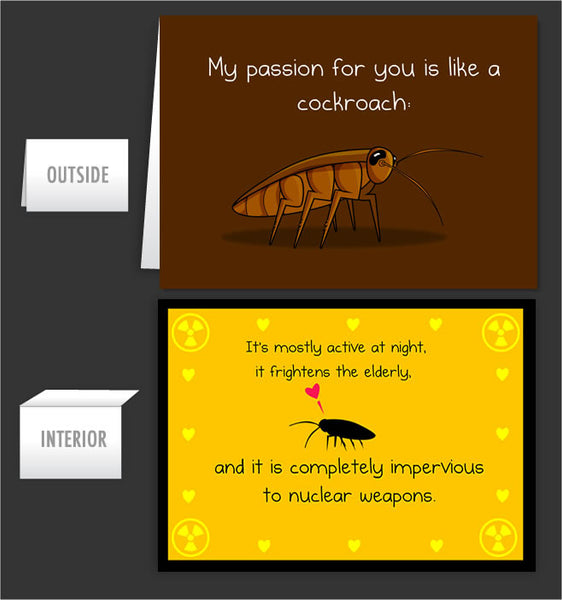 Cockroach passion - Greeting Card #13