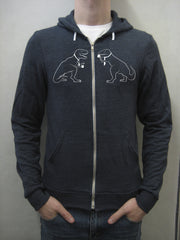 Business Dinosaurs Doing Important Business - Hoodie