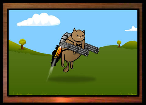 Gatling Kitty Print
