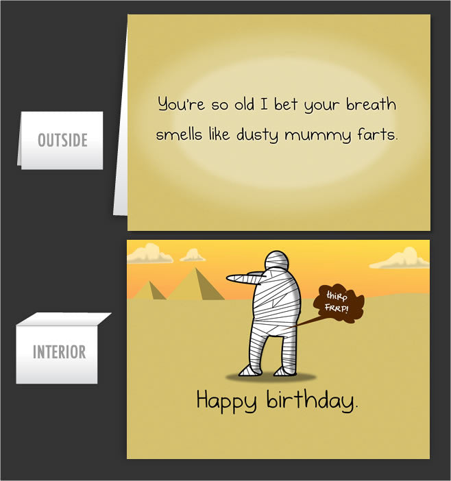 Mummy Farts Greeting Card 34 The Oatmeal