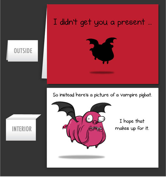 Pigbat - Greeting Card #35