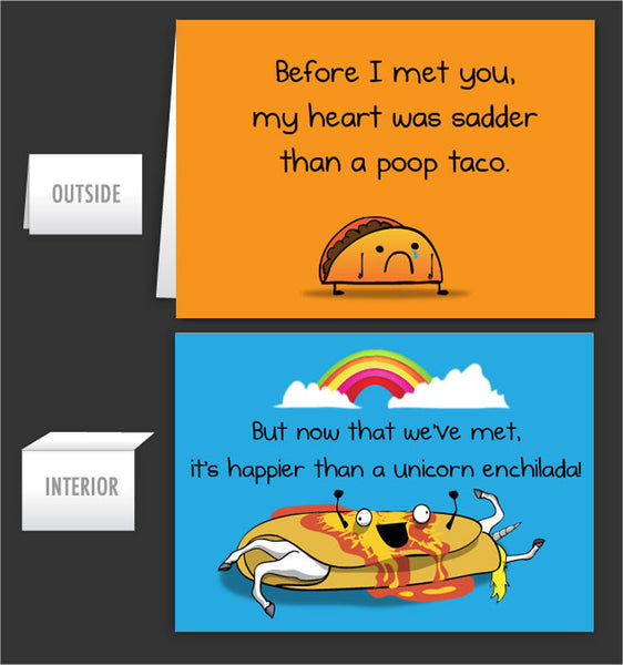 Poop Taco - Greeting Card #36
